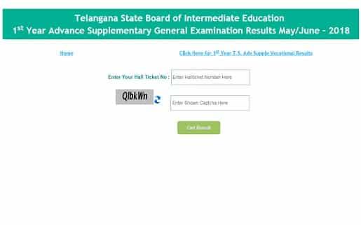 Manabadi TS Inter Supply Results 2018
