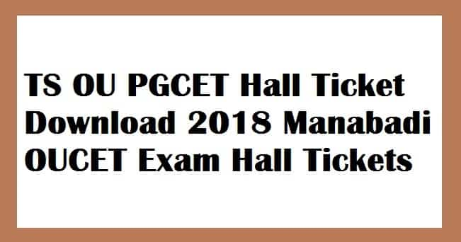 TS OU PGCET Hall Ticket Download 2018