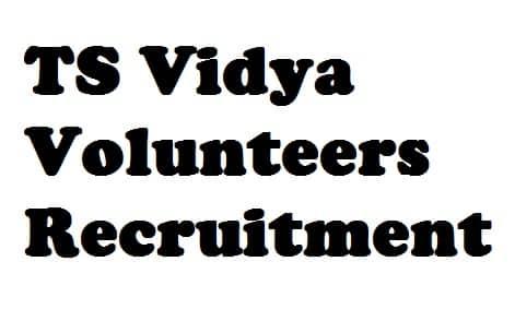 TS Vidya Volunteers Recruitment
