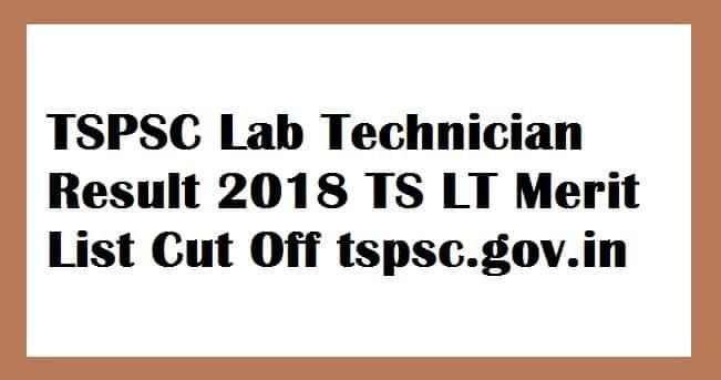 TSPSC Lab Technician Result