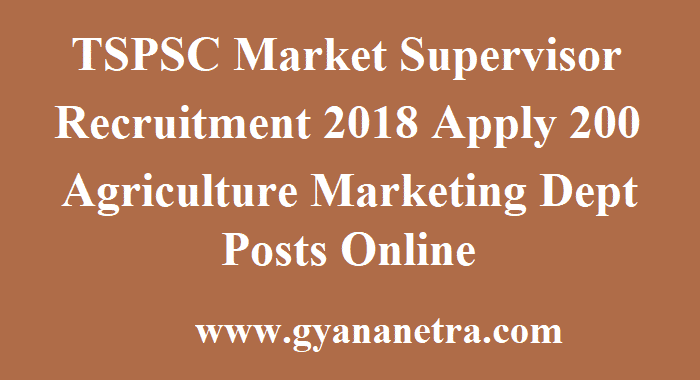TSPSC Market Supervisor Recruitment