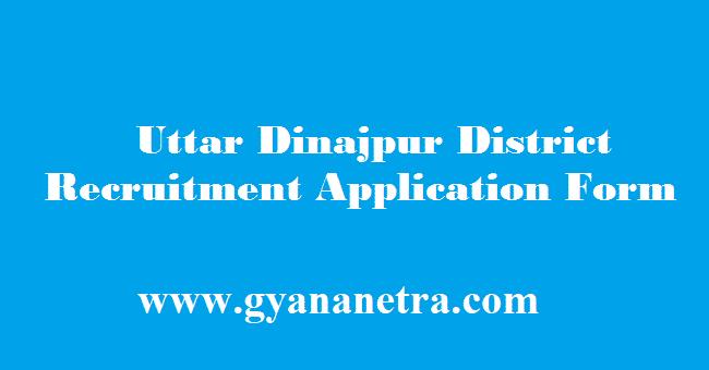 Uttar Dinajpur District Recruitment 2018