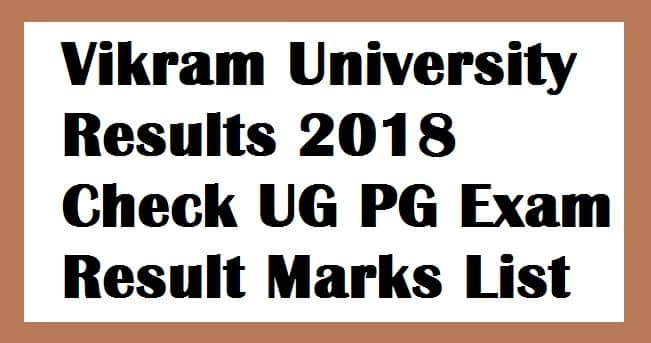 Vikram University Results