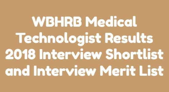 WBHRB Medical Technologist Results