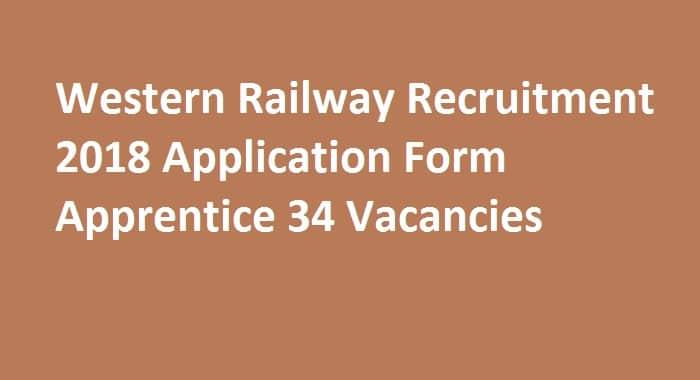 Western Railway Recruitment 2018
