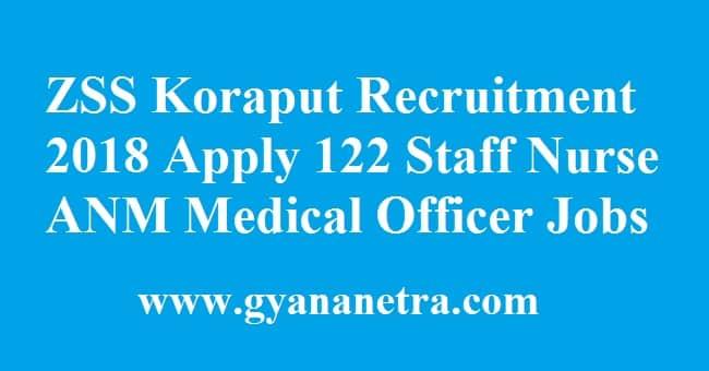 ZSS Koraput Recruitment