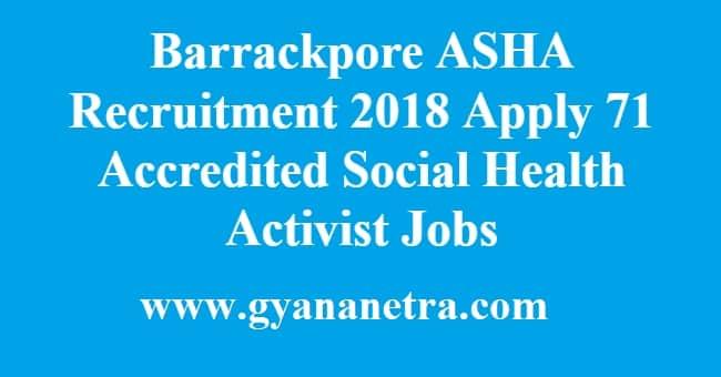 Barrackpore ASHA Recruitment