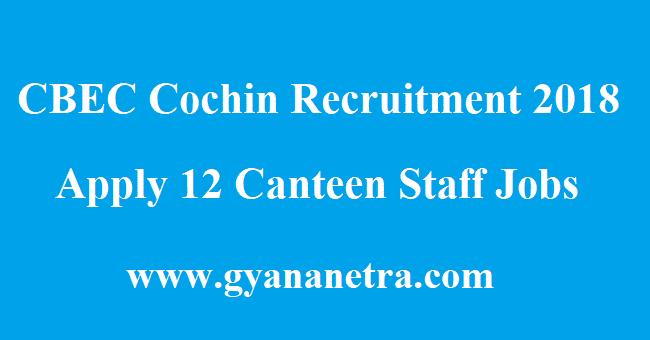 CBEC Cochin Recruitment
