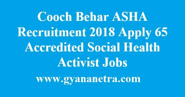 Cooch Behar ASHA Recruitment