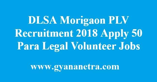 DLSA Morigaon PLV Recruitment