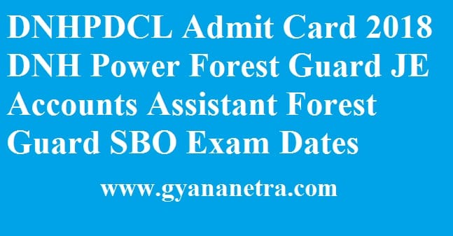DNHPDCL Admit Card
