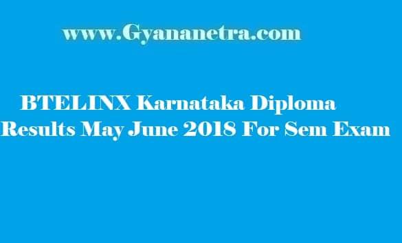 BTELINX Karnataka Diploma Results May 2018