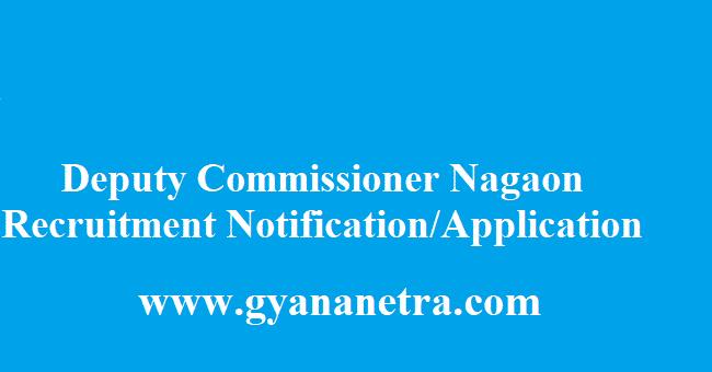 Deputy Commissioner Nagaon Recruitment 2018