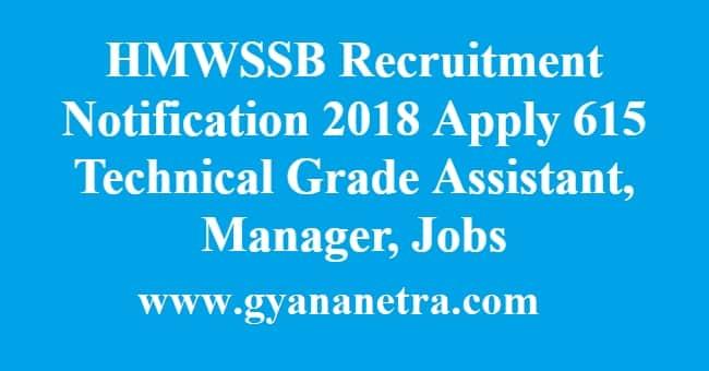HMWSSB Recruitment Notification
