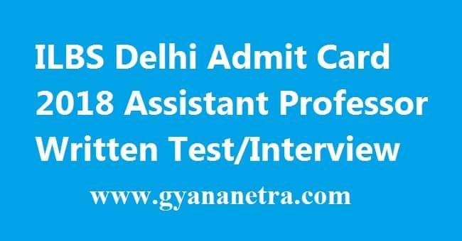 ILBS Delhi Admit Card