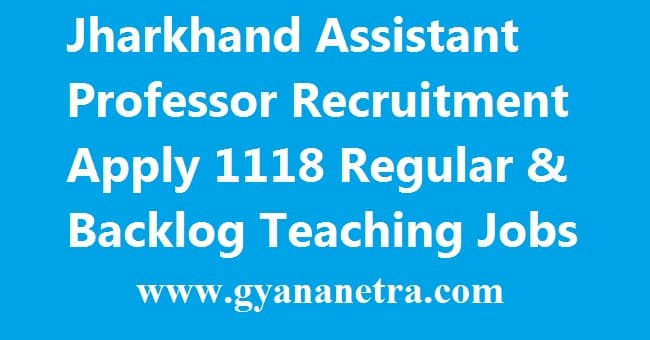 Jharkhand Assistant Professor Recruitment