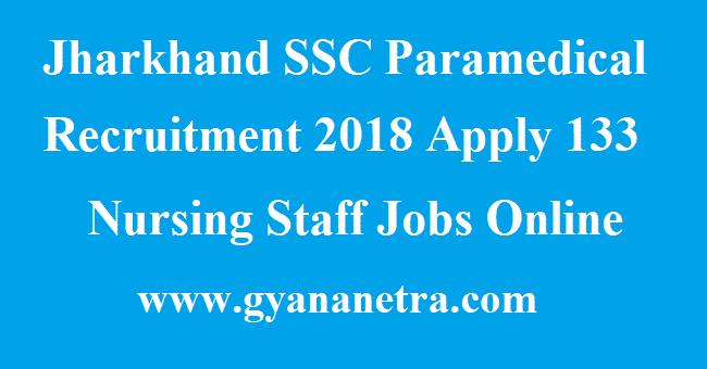 Jharkhand SSC Paramedical Recruitment