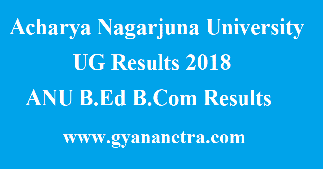Nagarjuna University UG Results