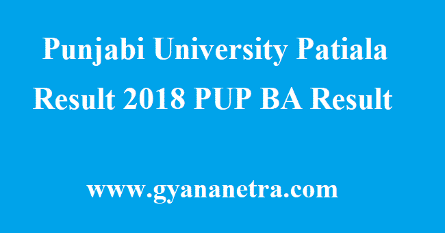 Punjabi University Patiala Result