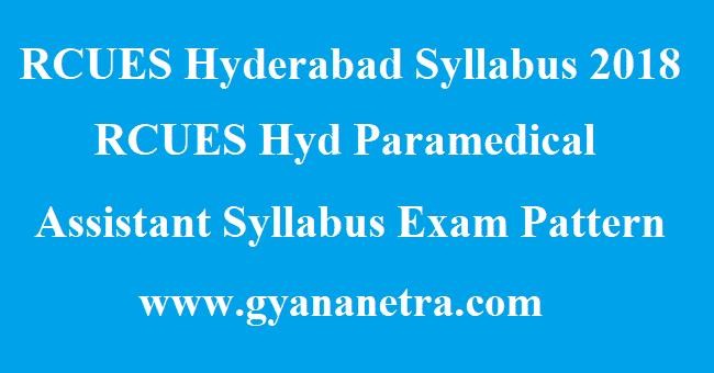 RCUES Hyderabad Syllabus