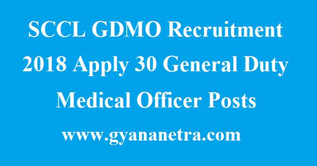 SCCL GDMO Recruitment