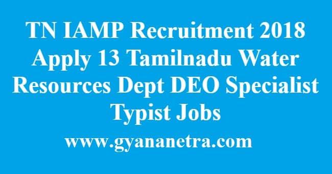 TN IAMP Recruitment