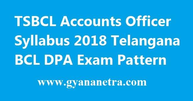 TSBCL Accounts Officer Grade 2 Syllabus
