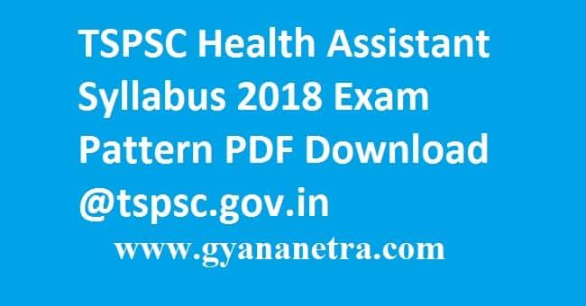 TSPSC Health Assistant Syllabus 2018