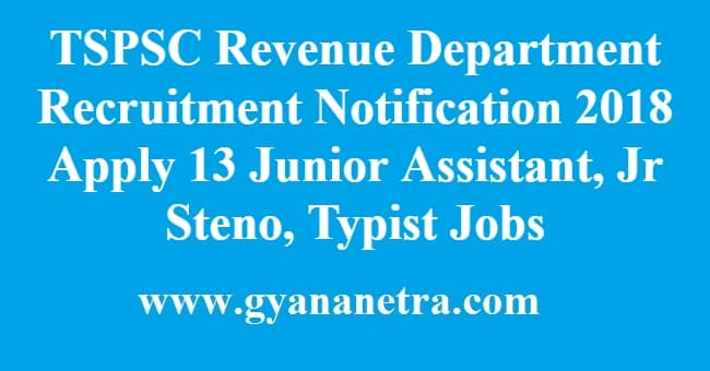 TSPSC Revenue Department Recruitment