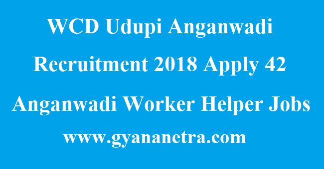 WCD Udupi Anganwadi Recruitment