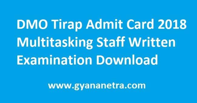 DMO Tirap Admit Card