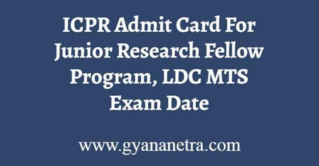 ICPR Admit Card Download