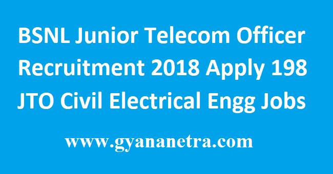 BSNL Junior Telecom Officer Recruitment