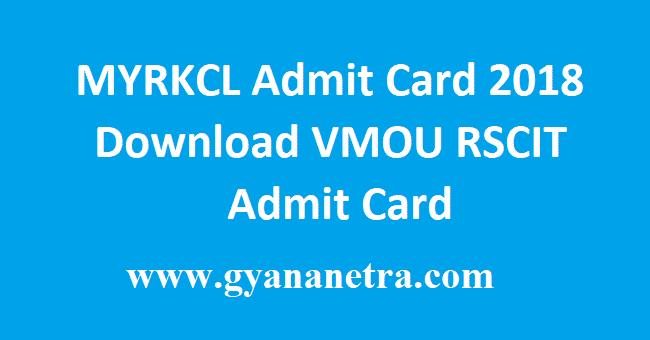 MYRKCL Admit Card