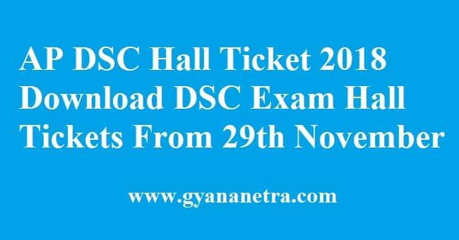 AP DSC Hall Ticket