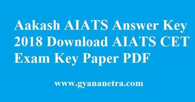 Aakash AIATS Answer Key