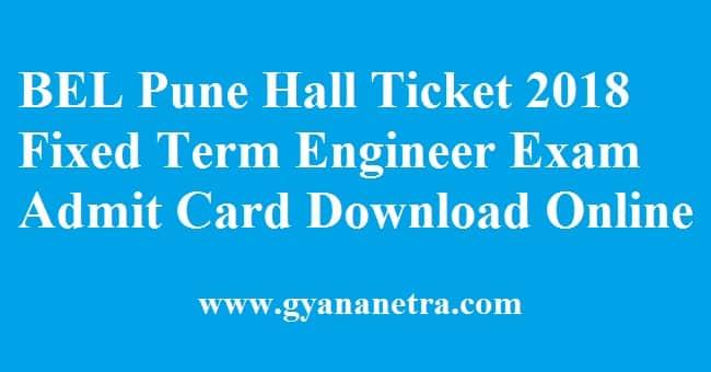 BEL Pune Hall Ticket
