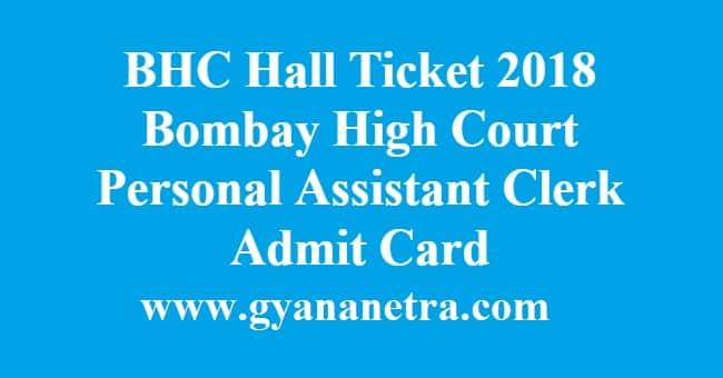BHC Hall Ticket Admit Card