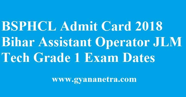 BSPHCL Admit Card