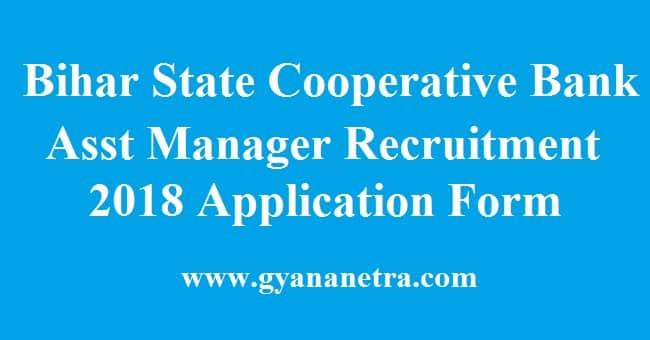 Bihar State Cooperative Bank Asst Manager Recruitment