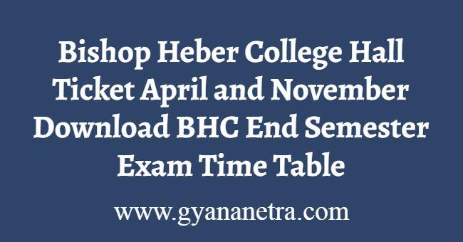 Bishop Heber College Hall Ticket