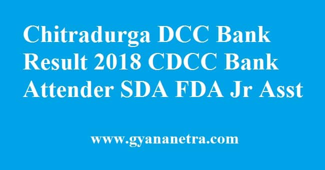 Chitradurga DCC Bank Result