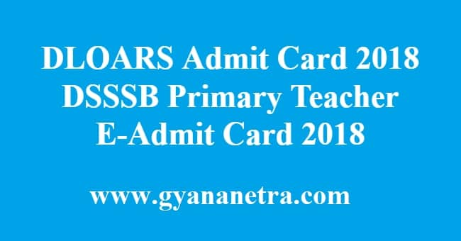 Dloars Admit Card