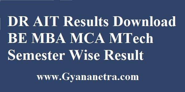 DR AIT Results Semester Wise