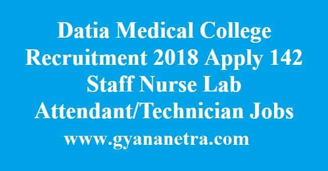 Datia Medical College Recruitment