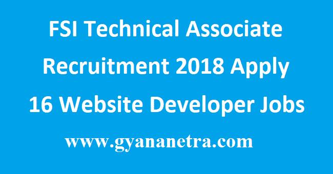 FSI Technical Associate Recruitment