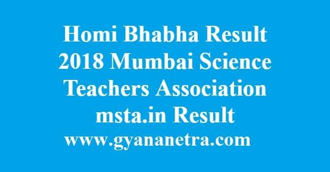 Homi Bhabha Result