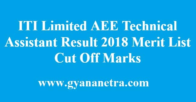 ITI Limited AEE Technical Assistant Result
