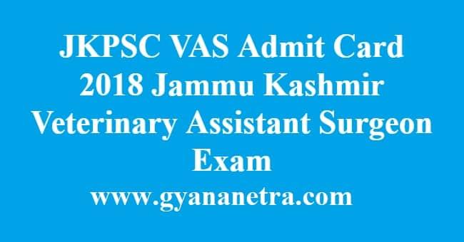 JKPSC VAS Admit Card