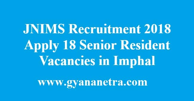 JNIMS Recruitment